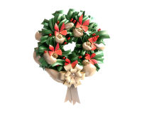 Christmas Wreath Isolated on White Background Royalty Free Stock Images