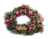Christmas wreath isolated on white background Stock Images