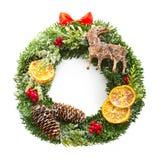Christmas wreath isolated. On white background Stock Image