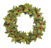Christmas Wreath. Isolated Christmas wreath on a white background Stock Images