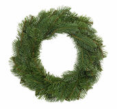 Christmas Wreath. Isolated Christmas wreath on a white background Stock Image