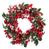 Christmas wreath isolated on the white background Royalty Free Stock Photography