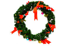 Christmas wreath isolated on white Stock Image