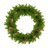 Christmas wreath, isolated on white Stock Photo