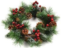 Christmas wreath. Isolated on white background Royalty Free Stock Photo