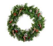 Christmas wreath isolated on white background Stock Image