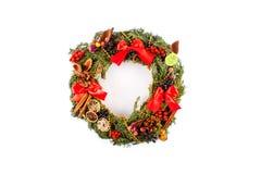 Christmas wreath isolated on white background. Royalty Free Stock Photos