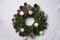 Christmas wreath, isolated on white Stock Image