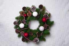 Christmas wreath, isolated on white Royalty Free Stock Photo