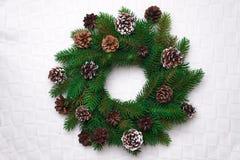 Christmas wreath, isolated on white Royalty Free Stock Photos