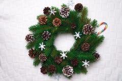 Christmas wreath, isolated on white Royalty Free Stock Image