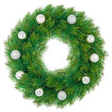 Christmas wreath isolated Royalty Free Stock Photo
