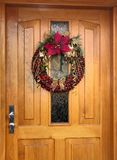 Christmas Wreath Knit From Chestnuts Royalty Free Stock Photos