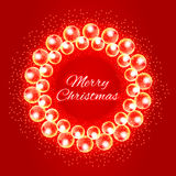 Christmas wreath of lights and sparkles with a wish Stock Photos