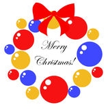 Christmas wreath made of baubles Royalty Free Stock Photos