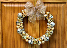 CHristmas Wreath made of bells. Image of Christmas wreath made of bells Royalty Free Stock Images