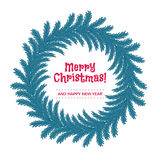 Christmas wreath made of fir tree branches. Stock Images