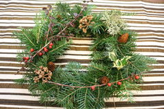 Christmas wreath. Made with freshcut wreath for Christmas Stock Image