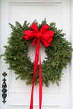 Christmas wreath made of pine branches Stock Images