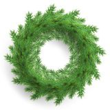 Christmas wreath made of realistic looking pine branches. EPS 10 royalty free illustration