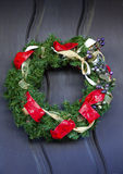 Christmas Wreath Mission San Luis Obispo de Tolosa California Royalty Free Stock Image