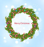 Christmas Wreath, New Year Decoration Royalty Free Stock Images