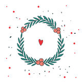 Christmas wreath New Year Holiday celebration template for your design Stock Photos