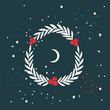 Christmas wreath New Year Holiday celebration template for your design Stock Images