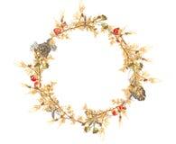 Christmas Wreath ocher Stock Photo