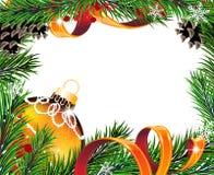 Christmas wreath with orange ball Stock Photography