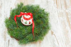 Christmas wreath and ornament Royalty Free Stock Photos