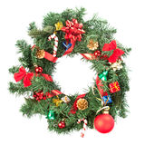 Christmas wreath with ornaments Stock Photography