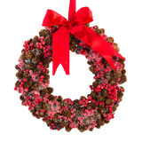 Christmas wreath from pine apples Stock Photo