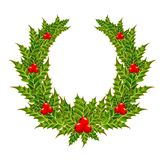 Christmas wreath with a red berry Stock Photography