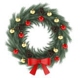 Christmas wreath with red bow. See my other works in portfolio Stock Image