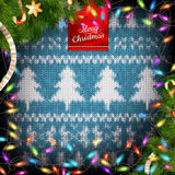 Christmas wreath on red. EPS 10 Royalty Free Stock Photography
