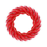 Christmas wreath red . Fir branch circlet. Decoration fo. R New Year Royalty Free Stock Images
