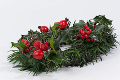 Christmas wreath red Stock Image