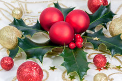 Christmas wreath red Royalty Free Stock Photography