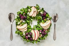 Christmas Wreath Salad royalty free stock images