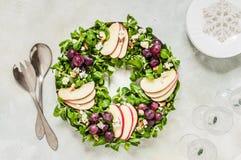 Christmas Wreath Salad stock image
