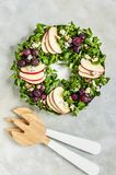 Christmas Wreath Salad royalty free stock image