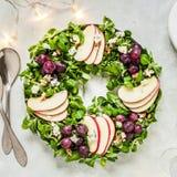 Christmas Wreath Salad stock photo