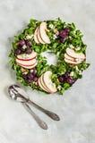 Christmas Wreath Salad stock images