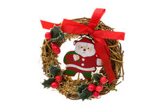 Christmas wreath with Santa Claus Royalty Free Stock Images