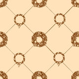 Christmas wreath seamless pattern Stock Photos