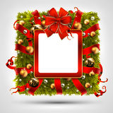 Christmas wreath in the shape of a square Stock Images