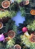 Christmas wreath on the snow Royalty Free Stock Photo