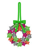 Christmas Wreath Star Decoration Royalty Free Stock Images