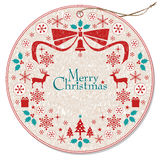Christmas wreath tag Royalty Free Stock Image